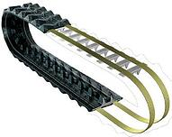Rubber tracks with steel cords